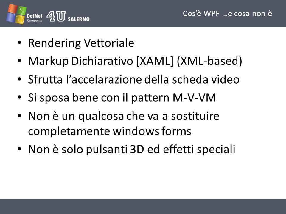 Markup Dichiarativo [XAML] (XML-based)